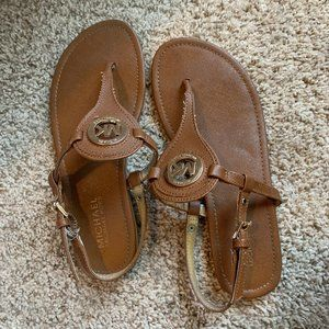 Brown Leather Michael Kors Sandals